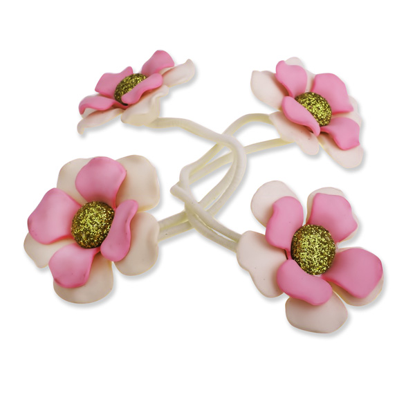 Резинки цветок для волос своими руками